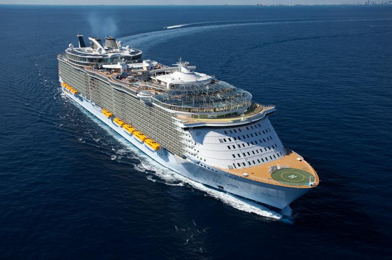 Oasis of the Seas Kurs Europa