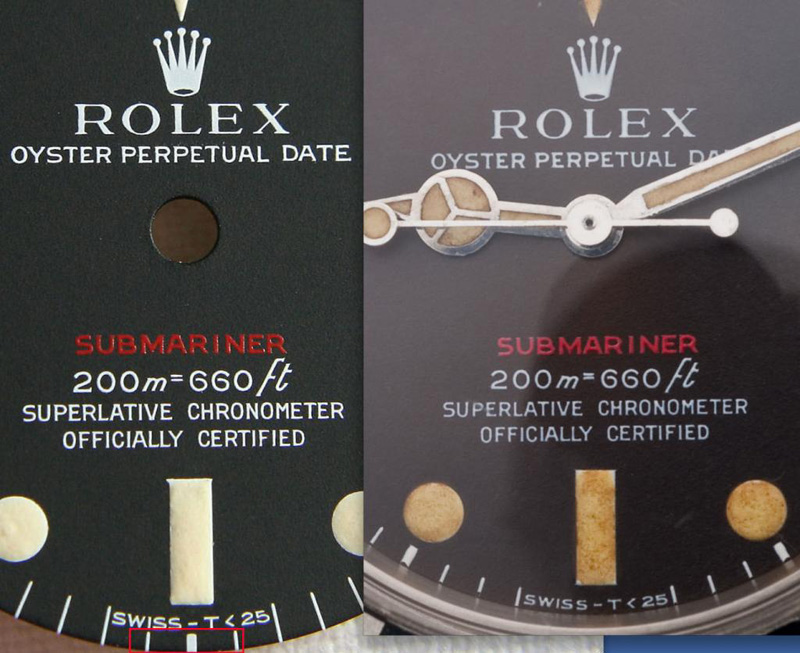 Rolex-Submariner-Red-Fakedial-Comparison