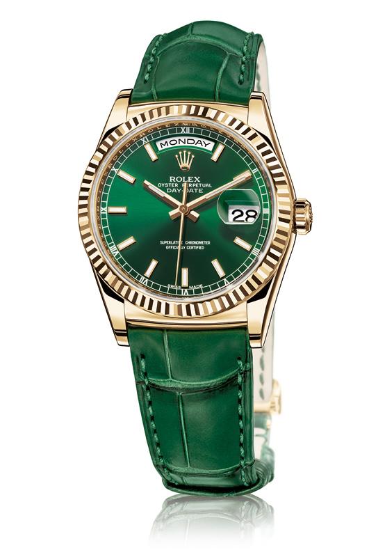Rolex-Day-Date-YG-Green