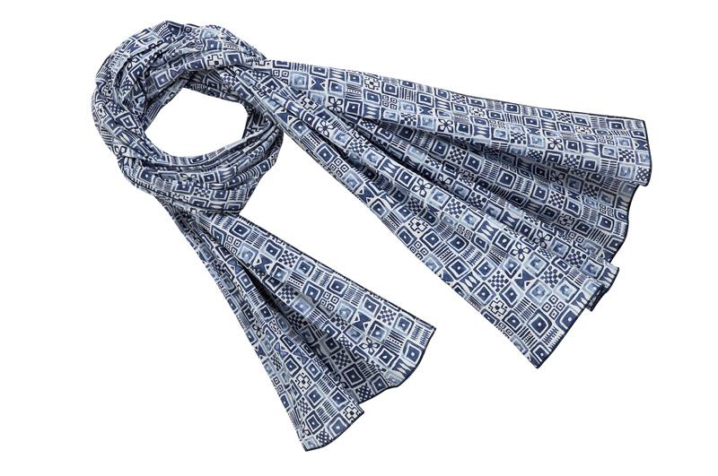 Vilebrequin-Foulard-Bleu