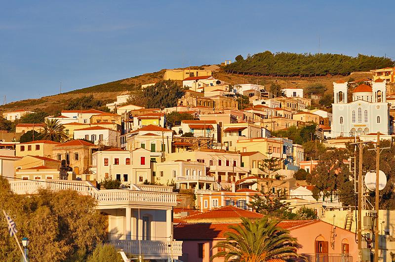 Sonnenuntergang Inousses Griechenland