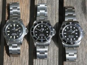 Rolex Sea-Dweller - Vergleich 116600, 16600 & 1665