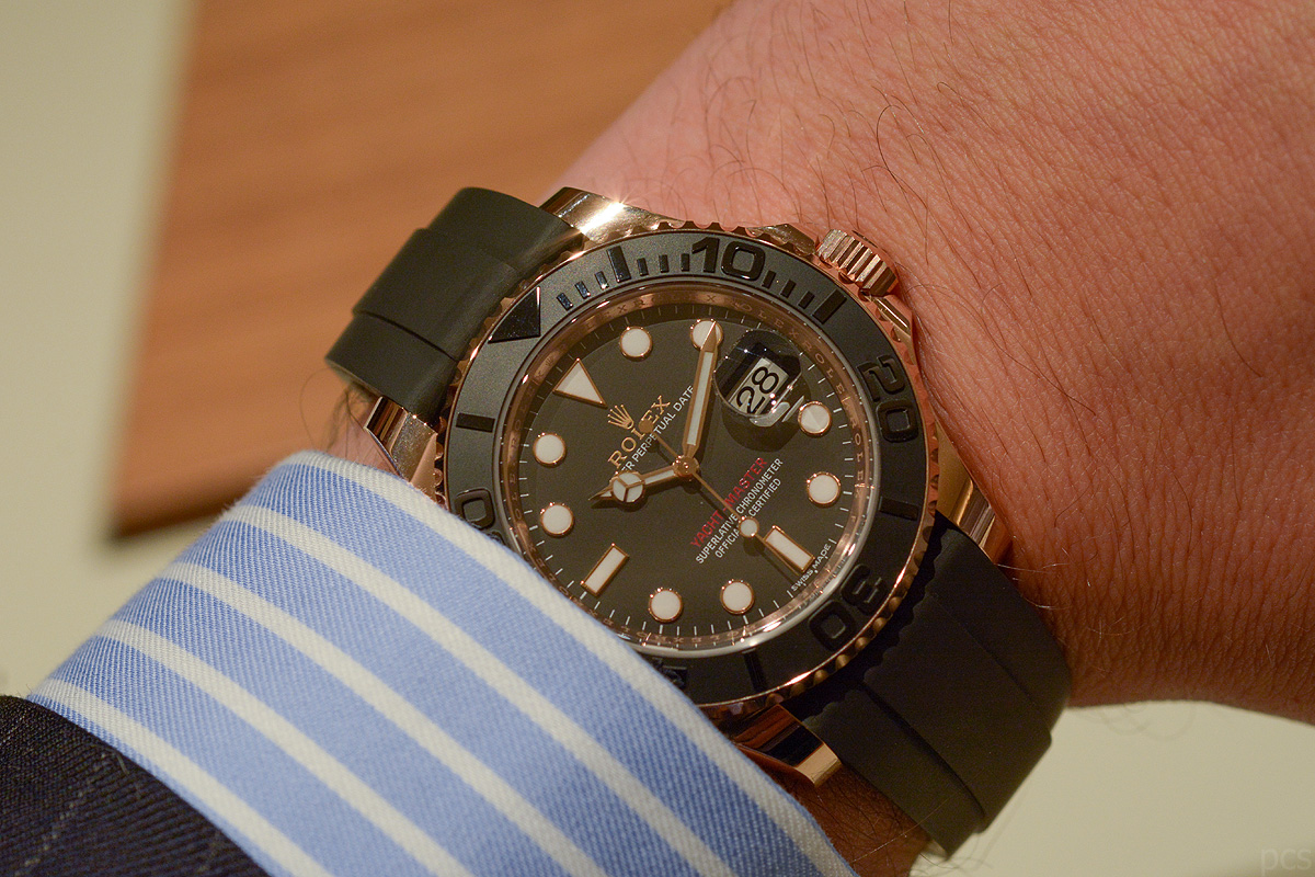 Hands-on Rolex Yacht-Master Oysterflex Everose 116655