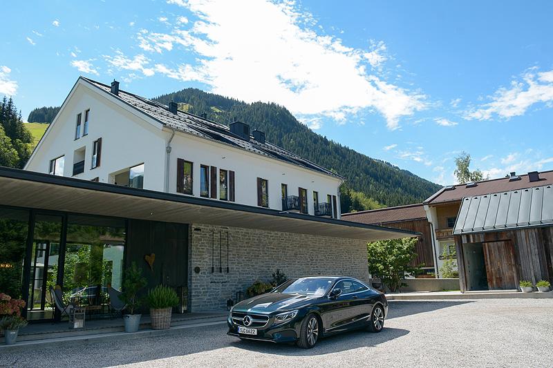 Mercedes S 500 Coupe Hotel Wiesergut Hinterglemm