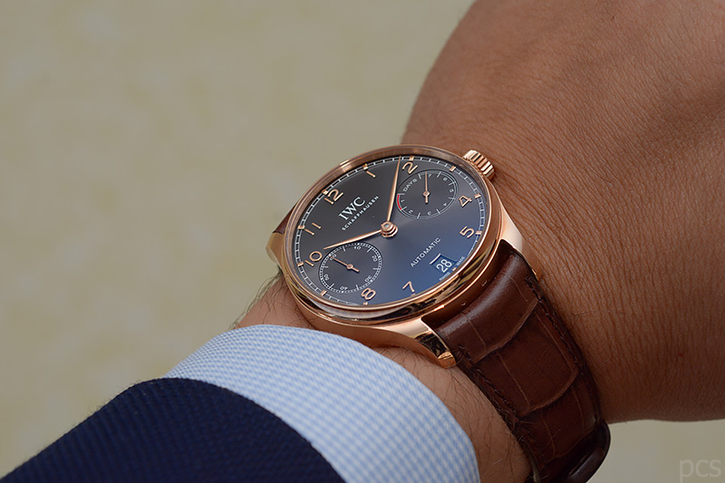 hands on iwc portugieser automatic ref 5007 luxify. Black Bedroom Furniture Sets. Home Design Ideas