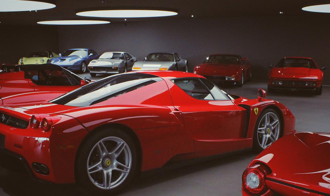 Ferrari: zu Gast bei einem Sammler