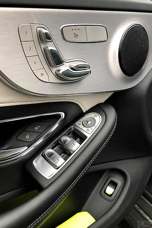 Sitzeinstellung Mercedes-AMG C63S Cabrio