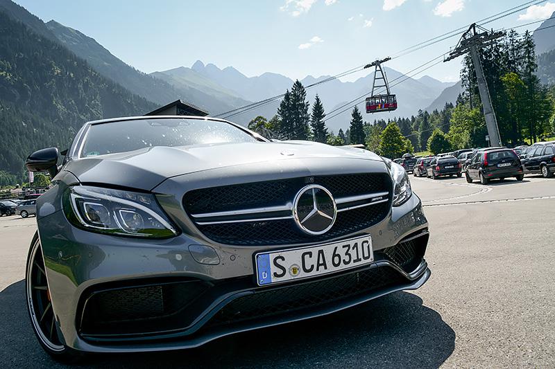 Mercedes-AMG C63S Cabrio Fellhornbahn Oberstdorf