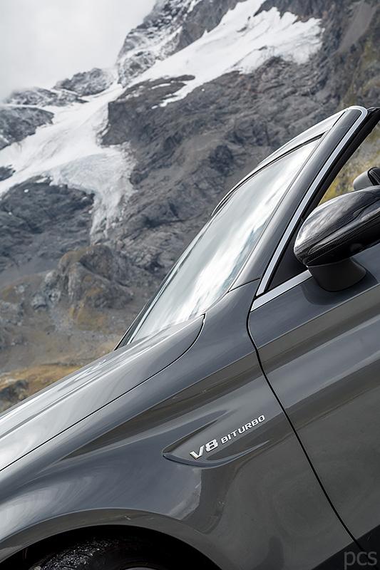 Mercedes-AMG C63S Cabrio Piz Cambrena
