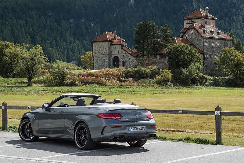 Mercedes-AMG C63S Cabrio Schloss Crap da Sass