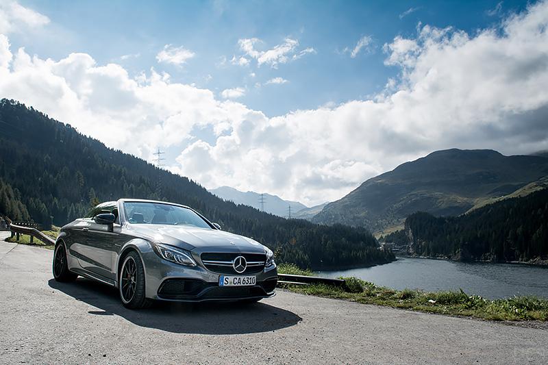 Mercedes-AMG C63S Cabrio Maromorera-Stausee