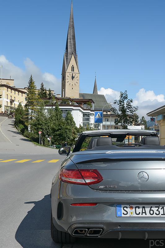Mercedes-AMG C63S Cabrio Davos Schweiz