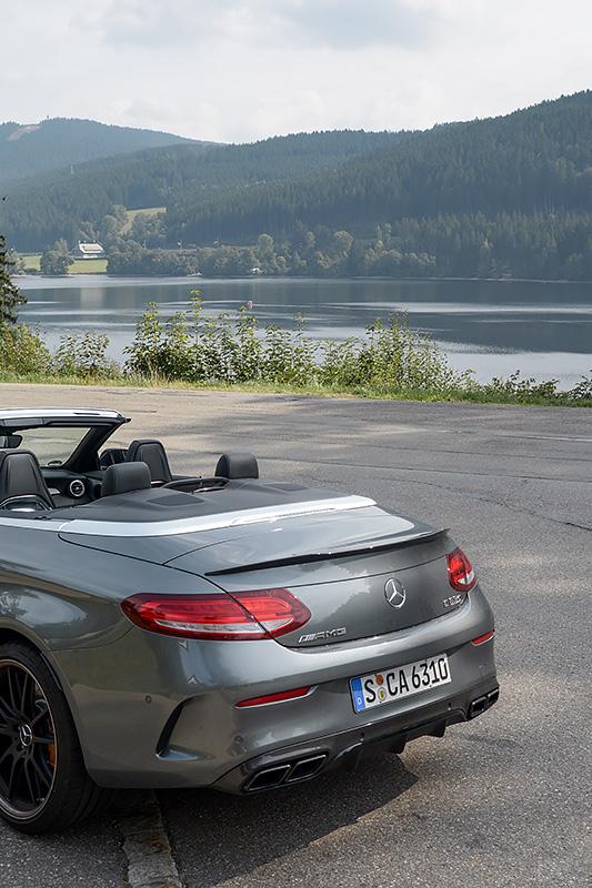 Mercedes-AMG C63S Cabrio Titisee Schwarzwald