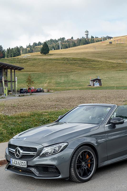 Mercedes-AMG C63S Cabrio Feldberg Schwarzwald
