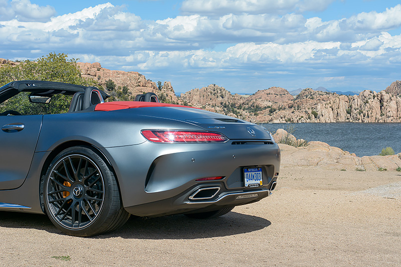 Watson Lake Luxify Roadtrip Arizona Mercedes AMG GT C Roadster