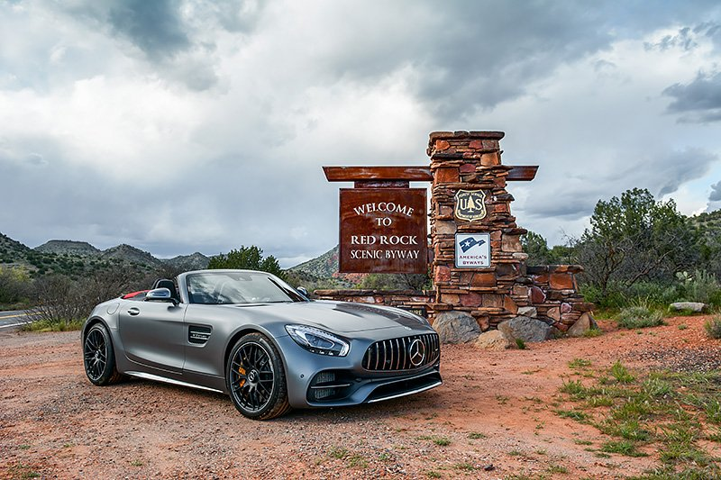 Luxify Roadtrip Red Rock Arizona Mercedes AMG GT C Roadster
