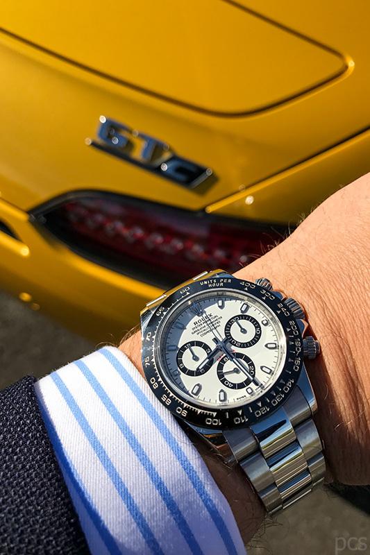 Luxify Rolex Daytona 116500 LN Mercedes AMG GT C Roadster