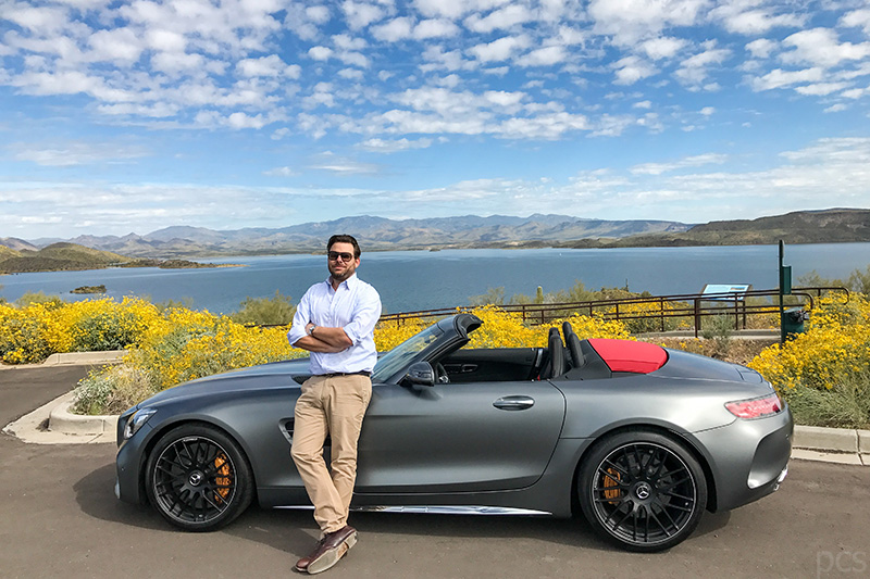 Luxify Autor Percy Christian Schoeler Mercedes AMG GT C Roadster