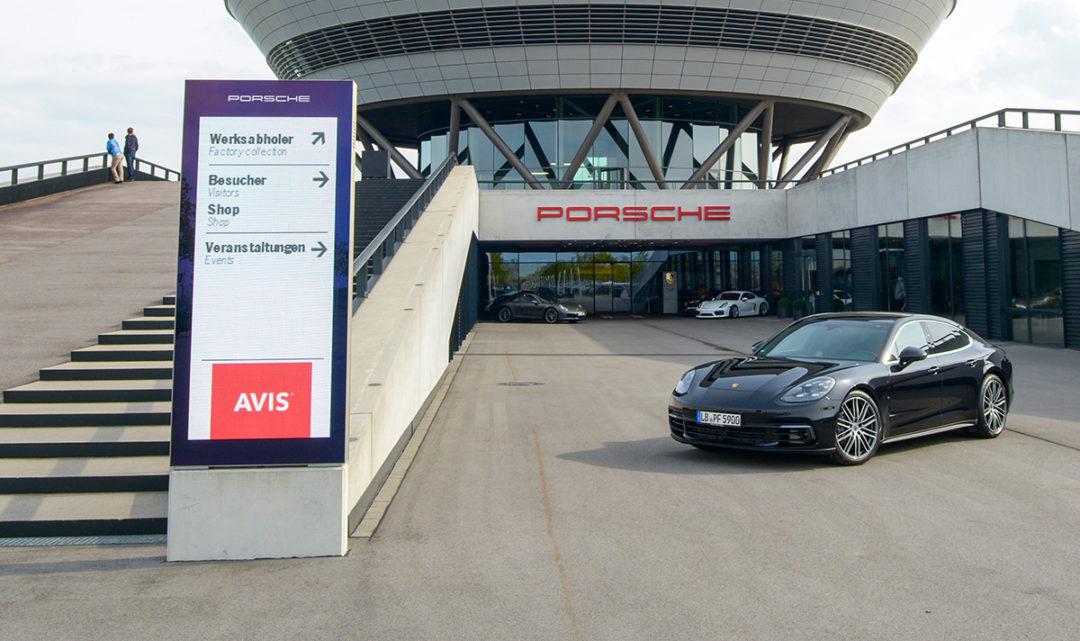 Avis und das einmalige Porsche-Erlebnis