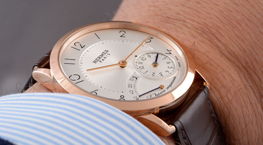 Hands-on Slim d'Hermès L'heure impatiente
