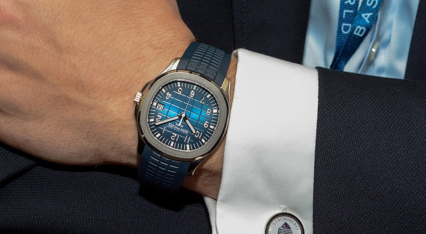 Hands-on Patek Philippe Aquanaut 5168G