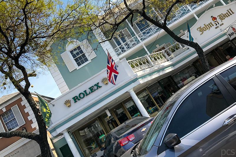 Rolex Konzessionär John Bull Bay Street Nassau Bahamas
