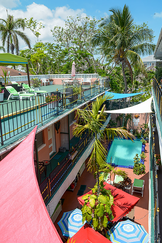Sonnenterrasse Pool Towne Hotel Nassau Bahamas
