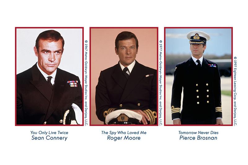James Bond Sean Connery Roger Moore Pierce Brosnan