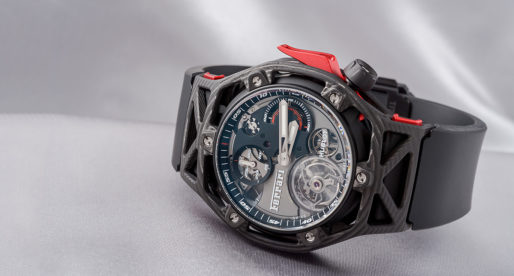 Hands-on Hublot Techframe Ferrari Tourbillon Chronograph