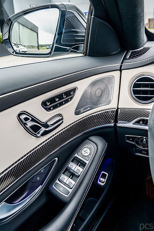 Ausstattungslinie Leder Exklusiv Nappa AMG porzellan/schwarz