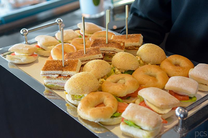 Auswahl an Sandwiches an Bord der Seabourn Quest