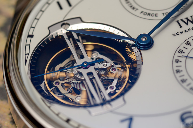 "Detailansicht Tourbillon IWC Portugieser Constant-Force Tourbillon Edition ""150 Years"", Ref. IW590202"