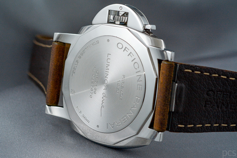 Rückansicht Officine Panerai Luminor Due 3 Days GMT Power Reserve Automatic Acciaio 42mm, PAM00904