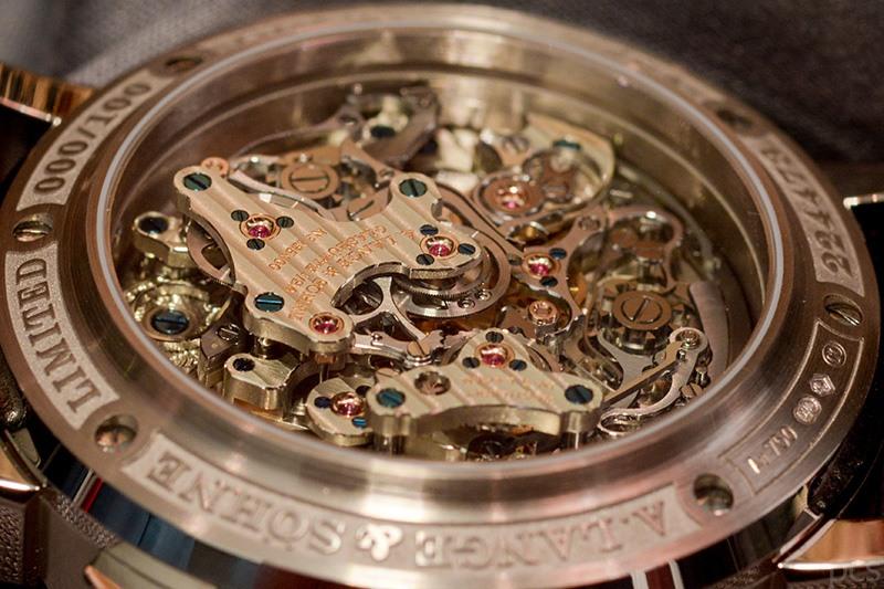 Rückansicht A. Lange & Söhne Triple Split Chronograph