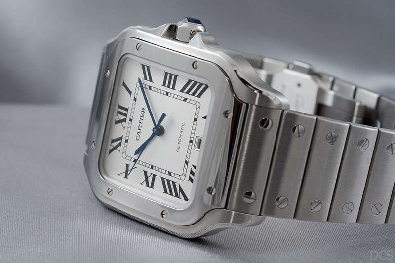 Santos de Cartier, großes Modell in Edelstahl