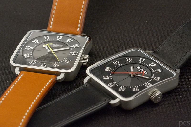 Zwei Hermès Carré H Uhren