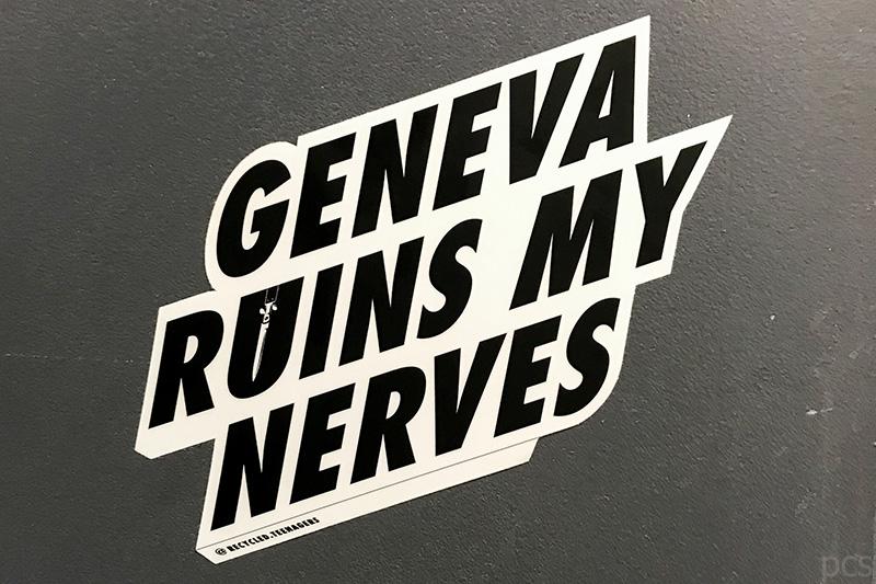 SIHH 2018 Aufkleber Geneva ruins my nerves