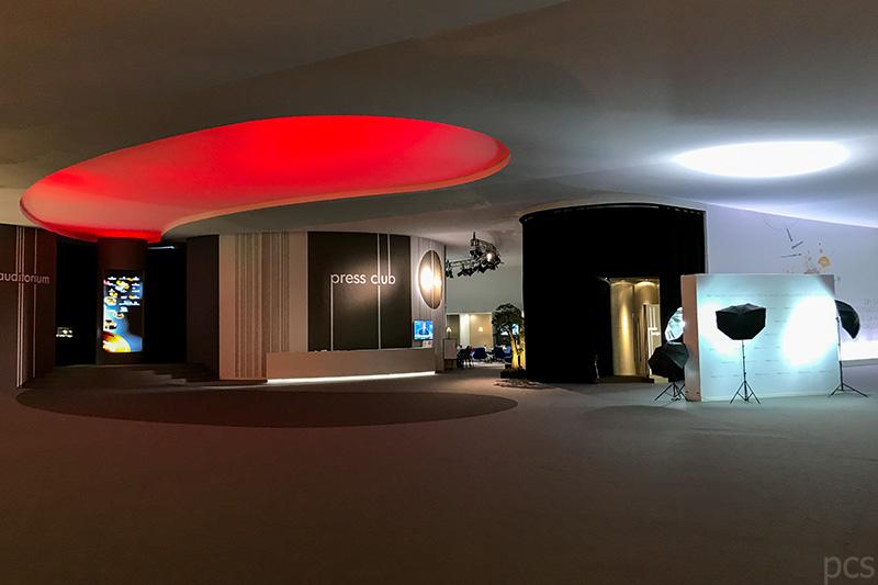 SIHH 2018 Pressezentrum bei Nacht