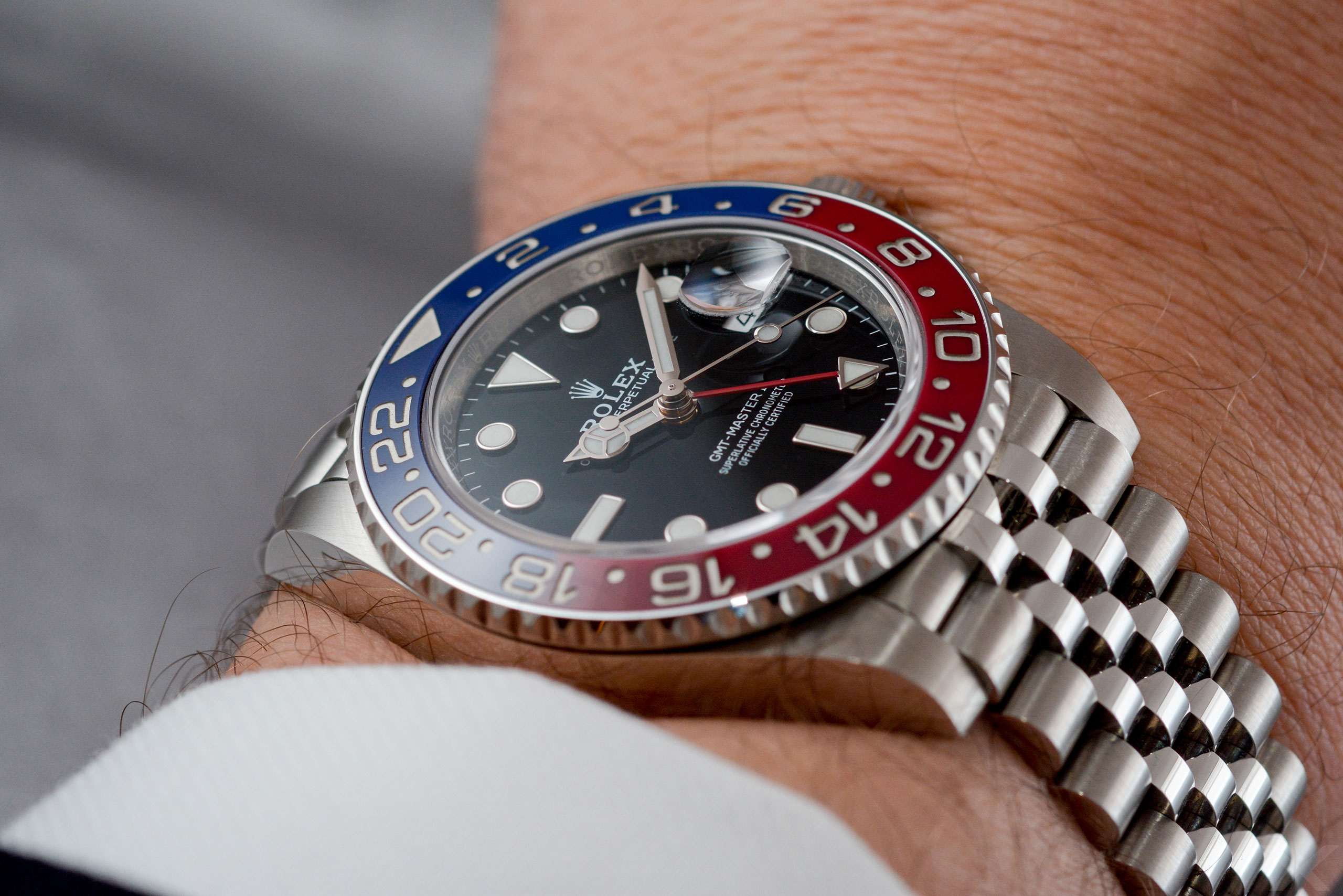 Luxify Wristshot Rolex GMT-Master II 126710 BLRO Baselworld 2018