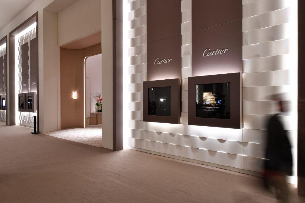 Messestand von Cartier auf dem SIHH 2018