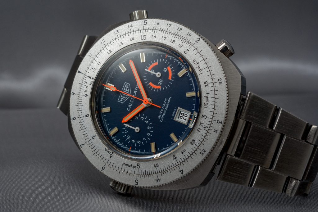 Luxify Auction Preview Dr. Crott Auktion Vintage Heuer Chronograph Calculator