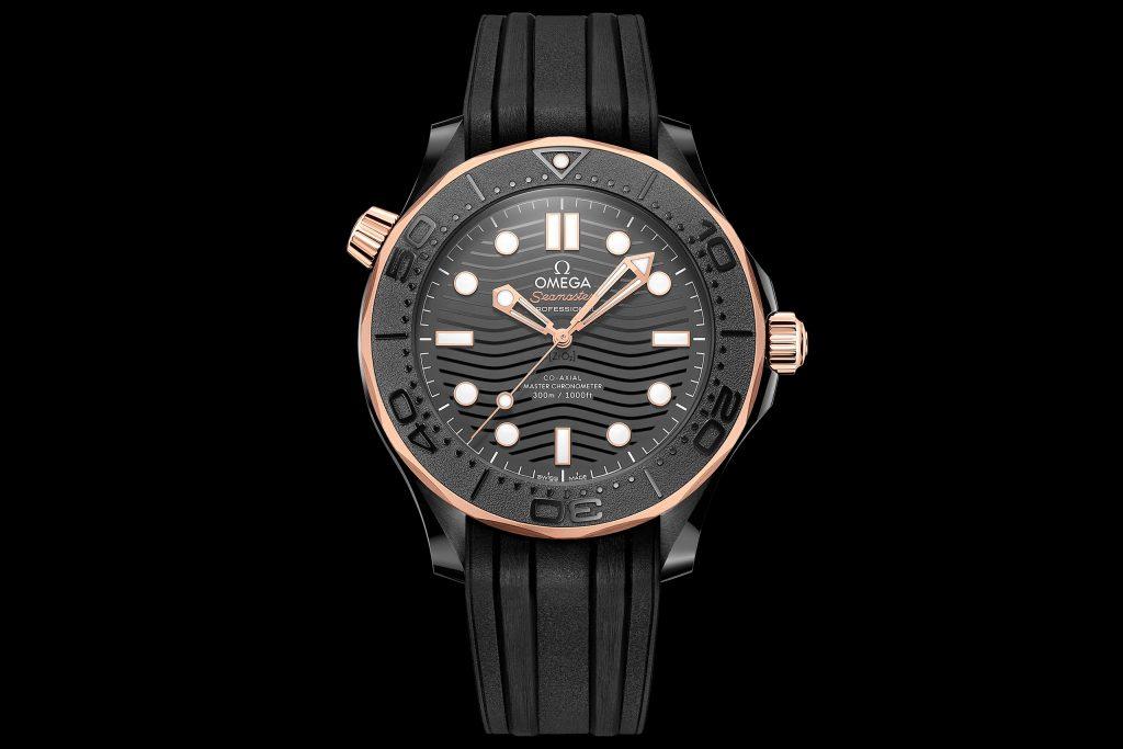 Luxify Neuheit 2021 Omega Seamaster Diver 300M 43,5 MM Black Ceramic Sedna Gold 210.62.44.20.01.001